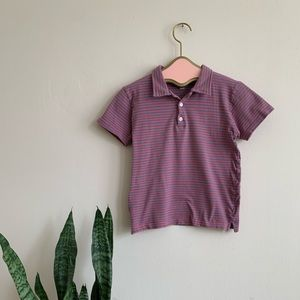 Vintage 90's Striped Cropped Babydoll Polo Shirt